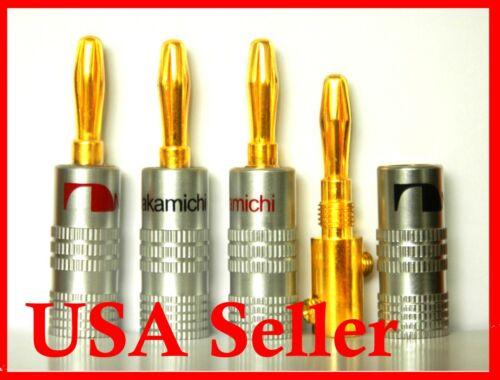14 Nakamichi Speaker banana plug Adapter Audio connectors Top Quality USA Stock
