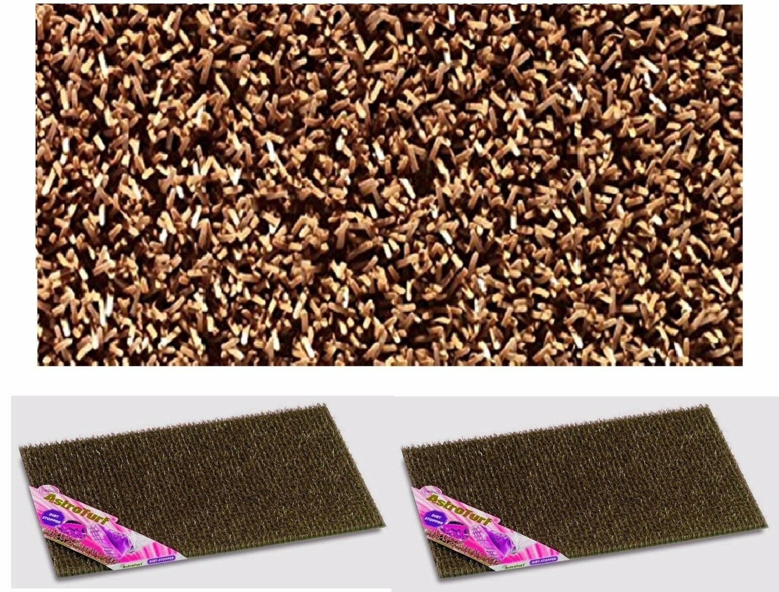 2 x Astro Turf External Plastic Scraper Door Mat Anti Slip Home Entrance Coca Brown New & 2x Astro Turf External Plastic Scraper Door Mat Anti Slip Home ...