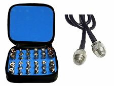High Quality 30 Piece RF Connector Adapter Kit with 6 foot Unidapt Coax Cable