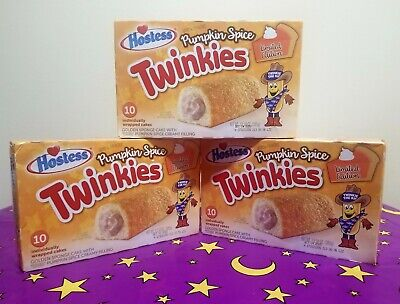 LOT of 3 boxes of Hostess Pumpkin Spice Twinkies 10 Ct each Fall Halloween
