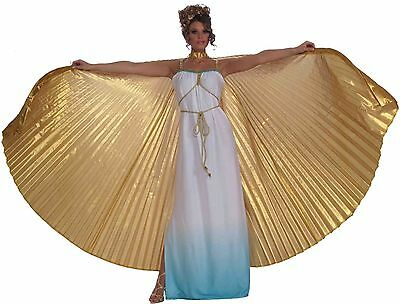 Gold Goddess Wings Cleopatra Costume Egyptian Adult Womens Theatrical Wing BIG - Gold Wings Costume