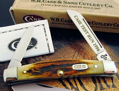 Case XX Red Stag R52052 Congress Knife 1996 SFO ULTRA RARE Etch Awesome Stag! NR
