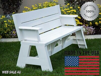Picnic Table Bench Convertible Deluxe Outdoor Patio Furniture Durable Yard USA