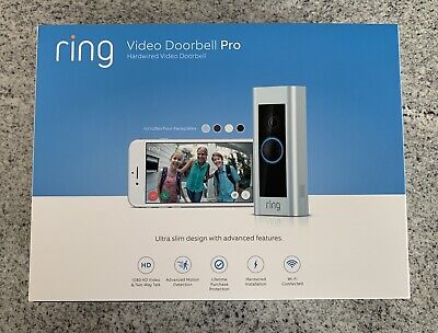 Ring Video Doorbell Pro WiFi 1080P HD Camera BRAND NEW FACTORY SEALED!!