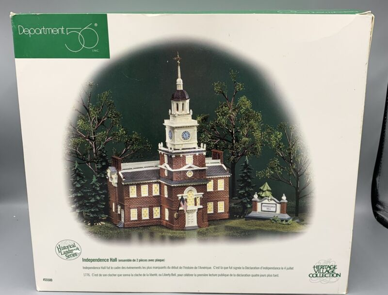 Dept 56 Independence Hall Heritage Village Collection Historical Landmark Series