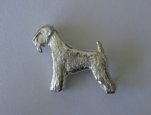 Large Sterling Silver Wheaten Terrier Standing Study Brooch