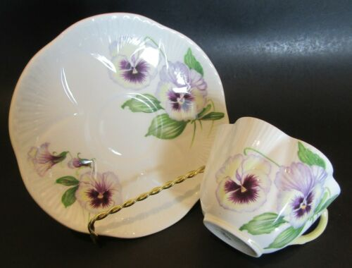Vintage Shelley Pansy Teacup and Saucer