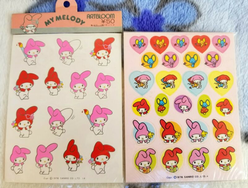 Vintage Sanrio My Melody 1976 Sticker Sheets
