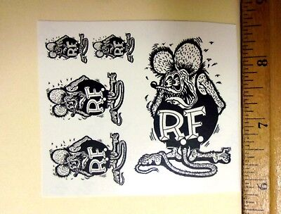 Rat Fink Decal Set Waterslide 1/24 Scale Model Car Hot Rod Slot Car Drag Racing  for sale  Cathedral City