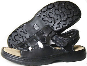 YWing-SD100-MenS-Black-Leather-Sandals-Special