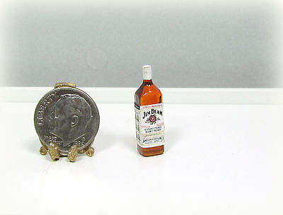 Dollhouse Miniature Plastic J Beam Bourbon Bottle
