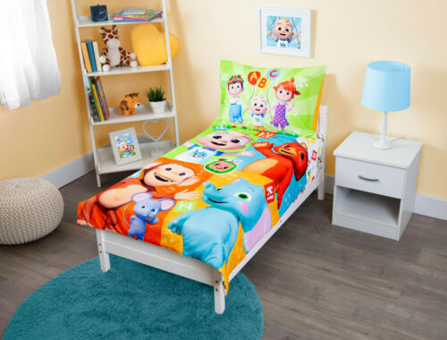 """Cocomelon 4-piece Toddler Bedding Set """"Learning Is Fun"""""""