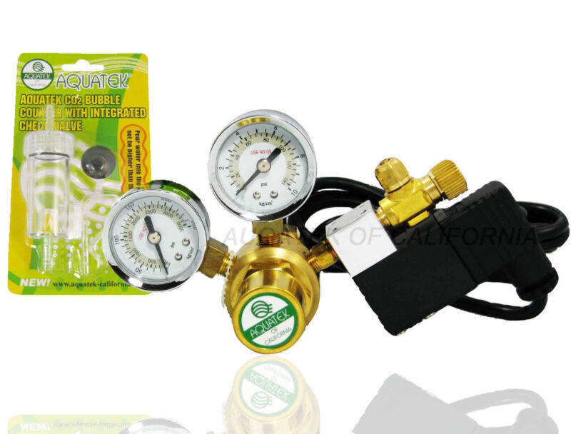 **NEW** Basic AQUATEK Aquarium CO2 Regulator with Integrated COOL TOUCH Solenoid