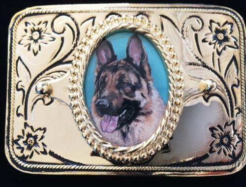 German Shepherd Dog Vintage Western Belt Buckle