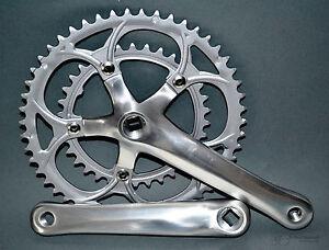 Rennrad KRG Kurbelgarnitur 2-fach Aluminium silber 34/50 Racing