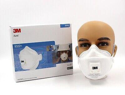 3M FFP2 Aura 9322+ Atemschutzmaske mit Ventil Atemschutz Mundschutzmaske Maske