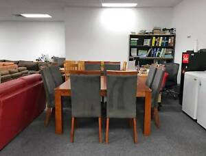 SOLD OUT- 9 pcs STRONG SOLID WOODEN dining table and chairs