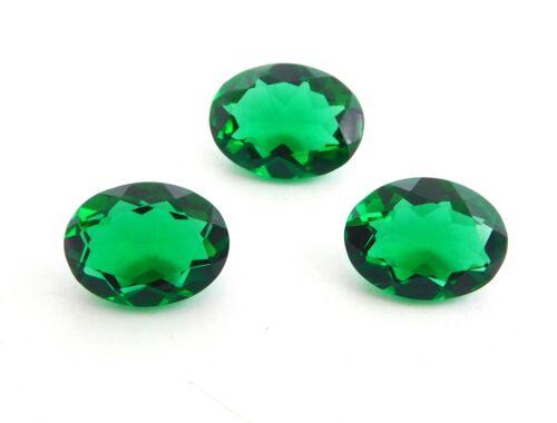 23.0 Cts 3 Pcs Hydro Emerald Oval Cut Lot Loose Gemstone Size 12 X 16 MM P-559
