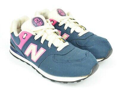 New Balance 574 Women's Size 6 Navy Pink White Canvas Running Walking Sneaker