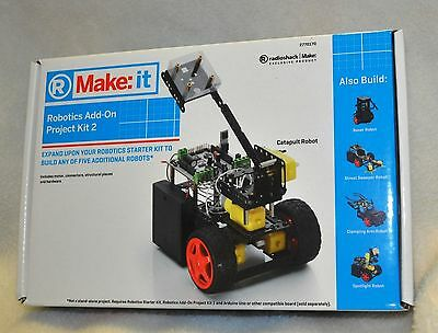 Make:it ROBOTICS ADD-ON PROJECT KIT 2 Build any of 5 Robots CATAPULT, BOXER..New
