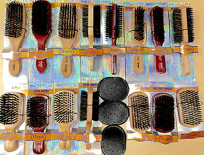 Pick 1 Annie Beard Brush Wooden Hard Soft Boar Bristle Wave