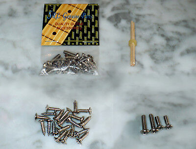 Chrome Pickguard Screw Set Fender Stratocaster Tele   Buy 2 Get 1 Free   Extras