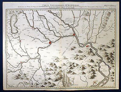 UNGARN - Landkarte der Gegend um Györ/ Esztergom von Jaeger, 1789. Original!