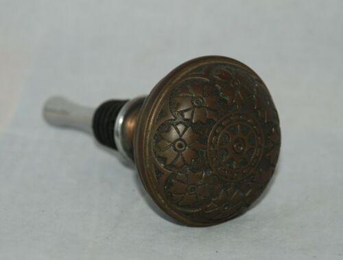 Vintage Antique Solid Brass Victorian/Eastlake Door Knob Bottle/Wine Stopper