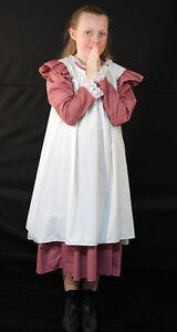 Girls-Edwardian-Victorian-WW1-DRESS-WITH-OVER-PINNY-Fancy-Dress-all-ages