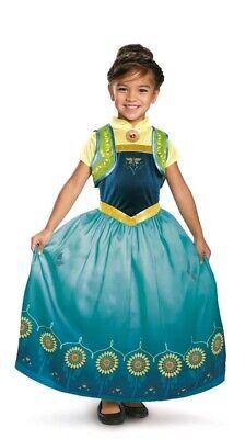 Girls Anna Frozen Fever Deluxe Dress Anna Sz 10-12 Dress Disney Princess Dress - Anna Frozen Fever Deluxe Kostüm