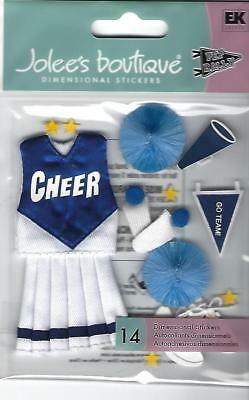 JOLEE'S BOUTIQUE CHEERLEADER  STICKERS **  SEE MY STORE **BLUE