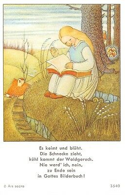 "Fleißbildchen Heiligenbild Gebetbild Andachtsbild  Holy card Ars sacra"" H776"""