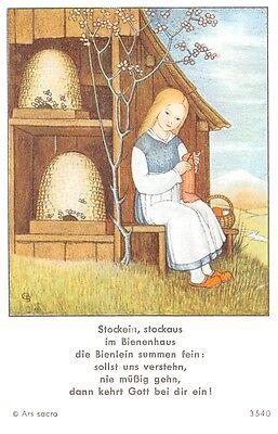 "Fleißbildchen Heiligenbild Gebetbild Andachtsbild  Holy card Ars sacra"" H771"""
