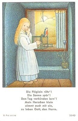 "Fleißbildchen Heiligenbild Gebetbild Andachtsbild  Holy card Ars sacra"" H774"""