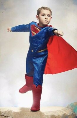 NWT/NEW CHASING FIREFLIES Ultimate Superman Dawn of JUSTICE COSTUME 12/14