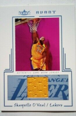 SHAQUILLE O'NEAL AUTHENTIC NBA GAME-USED JERSEY CARD #AGW-SO SERIAL #ED O43/400