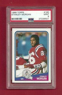 1988 Topps  180 Stanley Morgan Psa 9 Mint Pop 7 New England Patriots