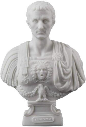 Julius Caesar Bust Sculpture Roman Emperor Statue Sculpture White