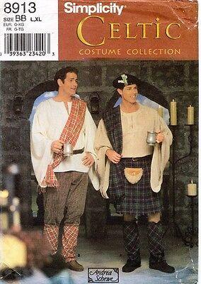 Simplicity Herren Keltisch Schottische Irish Kostüm Muster 8913 Größe L-XL Uncut