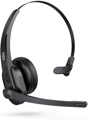 TaoTronics Trucker Bluetooth 5.0 34H Wireless Headset with Noise Cancelling Mic