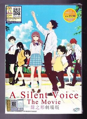 New  A Silent Voice The Movie English Subtitles Anime Dvd Us Seller