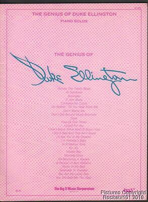 The Genius of Duke Ellington Piano Solos Sheet Music Book Duke Ellington Music Book