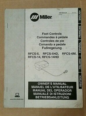 Miller Electric Owners Manual Foot Controls Multilingual Om-8400