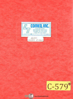 Comeq Bigg 2 Cnc Ercolina Bender Operations Maintenance And Wiring Manual 1990