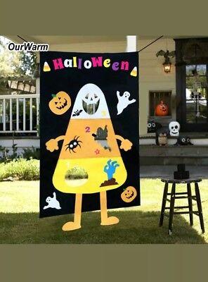 Aytai Candy Corn Banner Bean Bag Pumpkin Ghost Kids Party Halloween Outdoor - Halloween Party Games Candy Corn