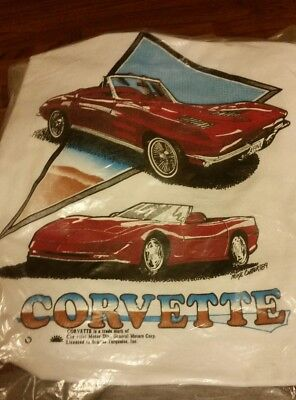Vintage Retro Corvette Transfer Lot Of 2