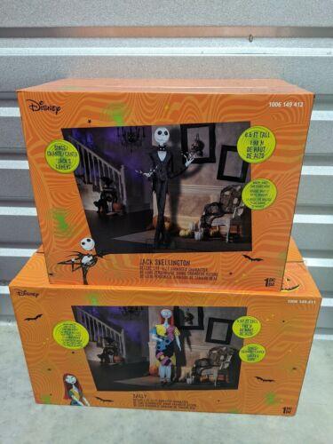6ft Animated Jack & Sally Nightmare Before Christmas Halloween Prop SHIPS FAST