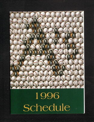 Oakland Athletics  1996 Pocket Schedule  Southwest Air