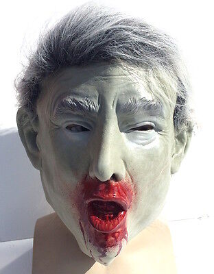 Donald Trump Zombie Mask Presidential Halloween Costume Dead President Latex](Dead Presidents Costumes)