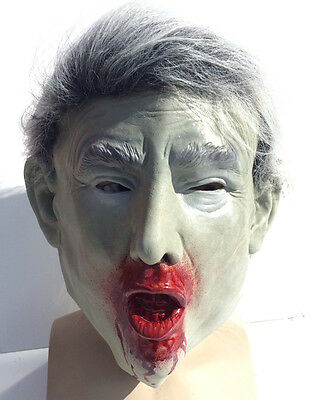 Donald Trump Zombie Mask Presidential Halloween Costume Dead President Latex ](Dead Presidents Costumes)